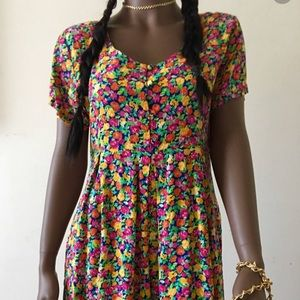 THE LIMITED 1990s Blossom Floral Romper Playsuit